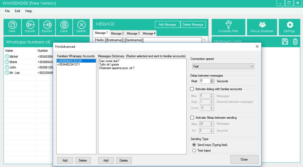 bulk whatsapp sender software features